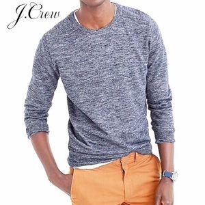 J. Crew Cotton-linen heather crewneck sweater XL